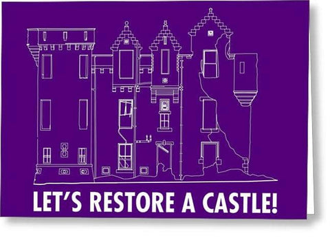 Castle Outline - Greeting Card