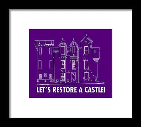 Castle Outline - Framed Print