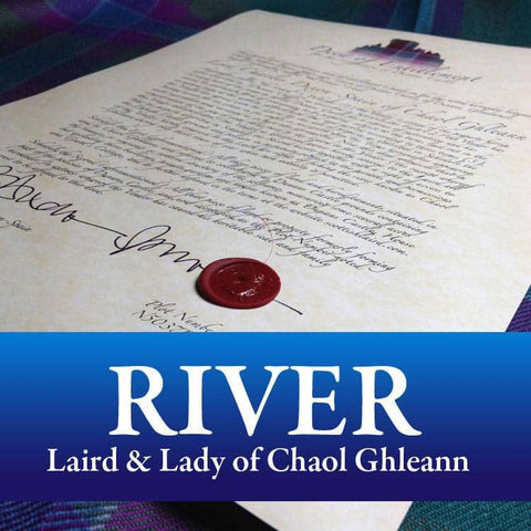 Decorative Title: Laird & Lady of Chaol Ghleann - Scottish Laird