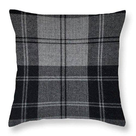 Douglas Grey Modern Tartan - Throw Pillow