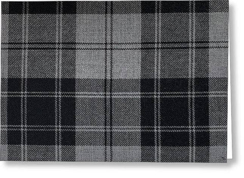 Douglas Grey Modern Tartan - Greeting Card