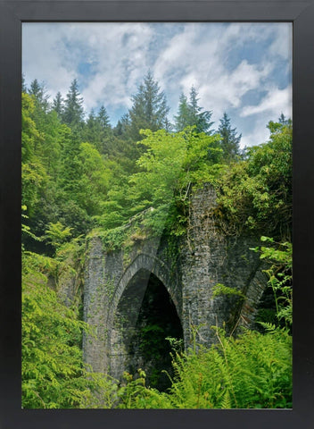 Dunans Bridge Framed A3 Bamboo Print - Scottish Laird