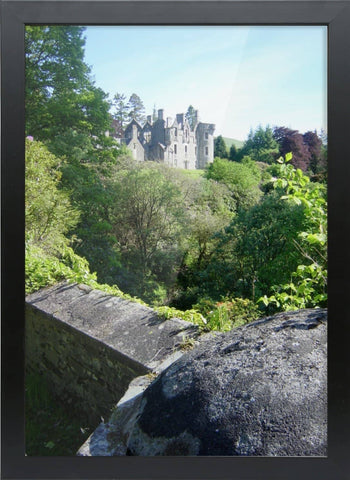 Dunans Castle in Spring Framed A3 Bamboo Print - Scottish Laird