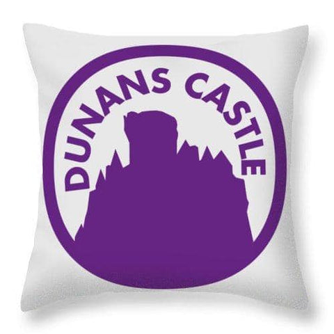 Dunans Castle Purple Logo - Throw Pillow