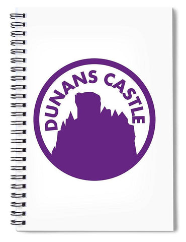 Dunans Castle Purple Logo - Spiral Notebook