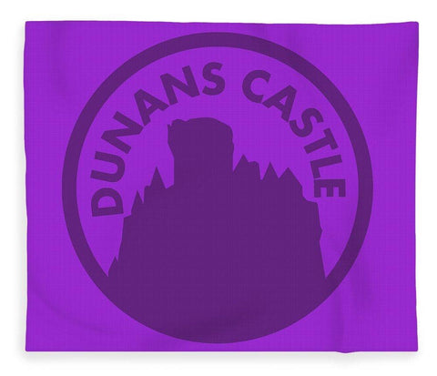 Dunans Castle Purple Logo - Blanket
