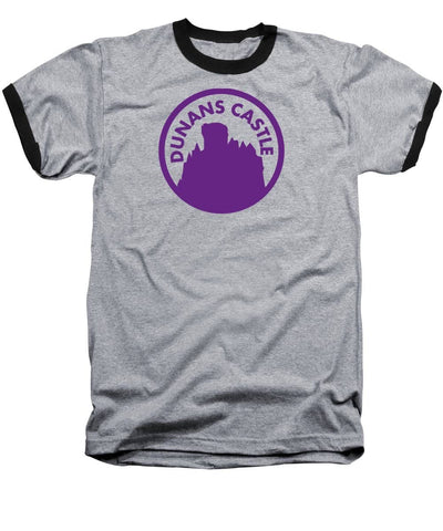 Dunans Castle Purple Logo - Baseball T-Shirt