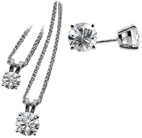 Dunans Diamond Earring & Pendant Sets - Scottish Laird