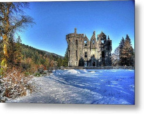 Dunans In Snow - Metal Print