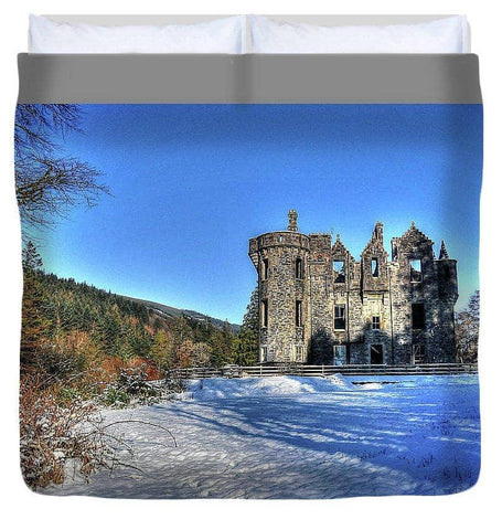 Dunans In Snow - Duvet Cover - Scottish Laird