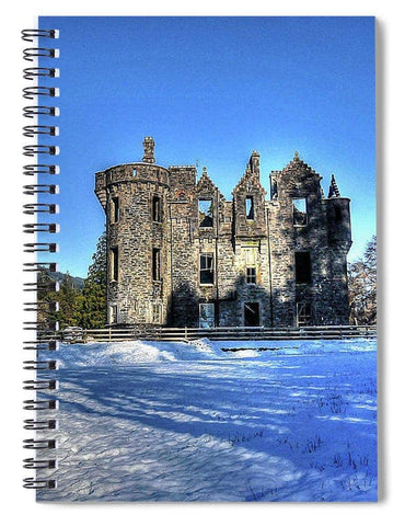 Dunans In Snow - Spiral Notebook - Scottish Laird