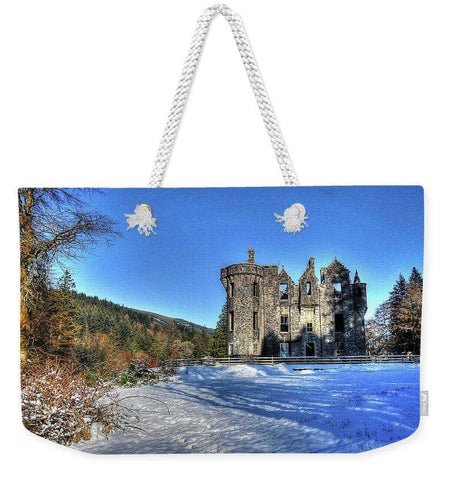 Dunans In Snow - Weekender Tote Bag - Scottish Laird