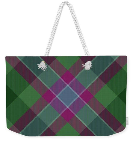 Dunans Rising Tartan Facemask - Weekender Tote Bag