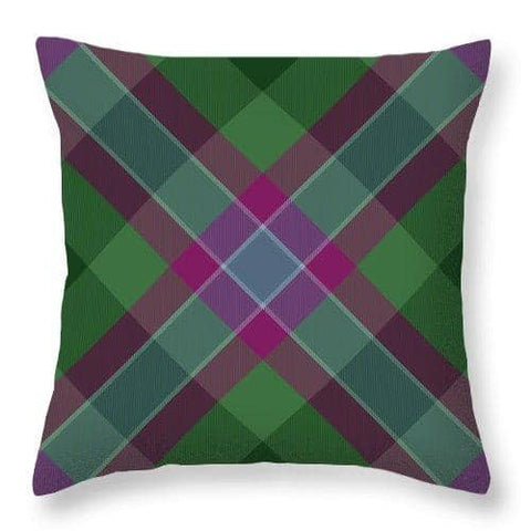 Dunans Rising Tartan Facemask - Throw Pillow