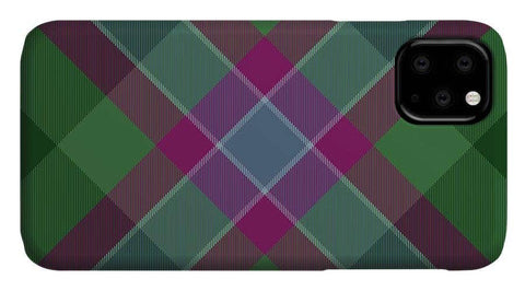Dunans Rising Tartan Facemask - Phone Case