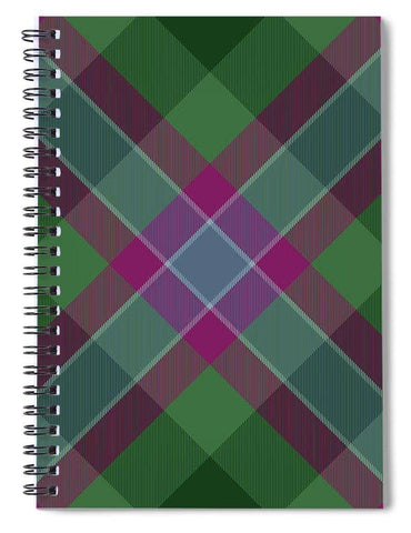 Dunans Rising Tartan Facemask - Spiral Notebook