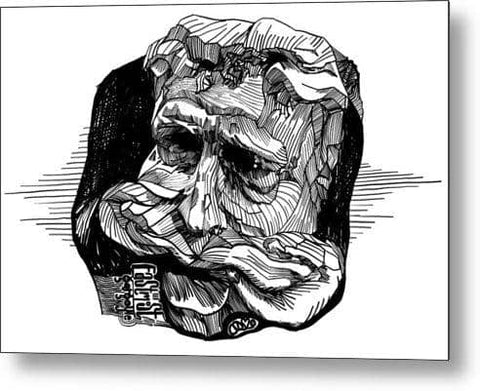 Eastmost Gargoyle - Metal Print
