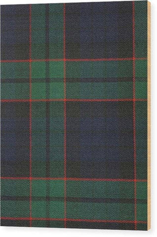 Fletcher Modern Tartan Swatch - Wood Print