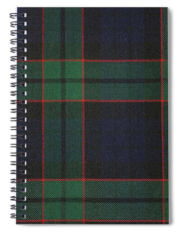 Fletcher Modern Tartan Swatch - Spiral Notebook