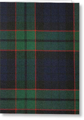Fletcher Modern Tartan Swatch - Greeting Card