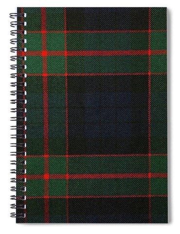 Fletcher Of Dunans Modern Tartan Swatch - Spiral Notebook