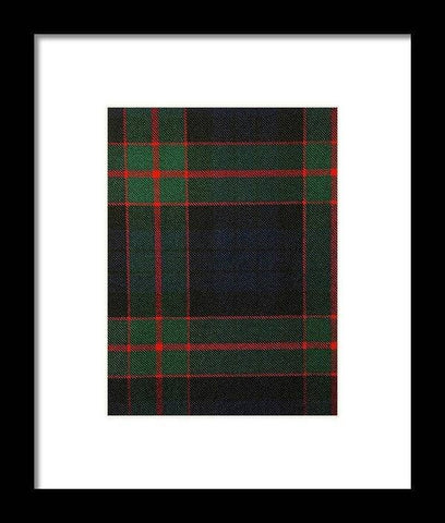 Fletcher Of Dunans Modern Tartan Swatch - Framed Print