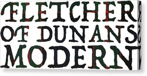 Fletcher Of Dunans Modern Tartan Words - Canvas Print