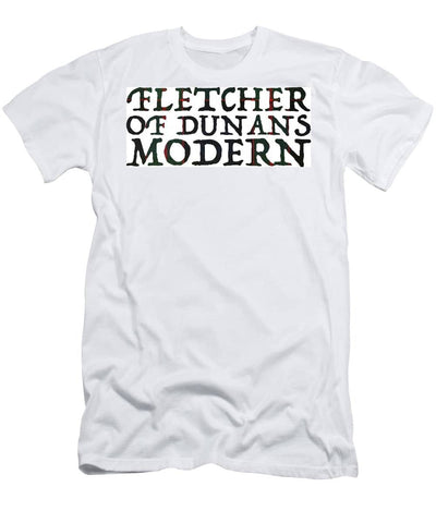 Fletcher Of Dunans Modern Tartan Words - Men's T-Shirt (Athletic Fit)