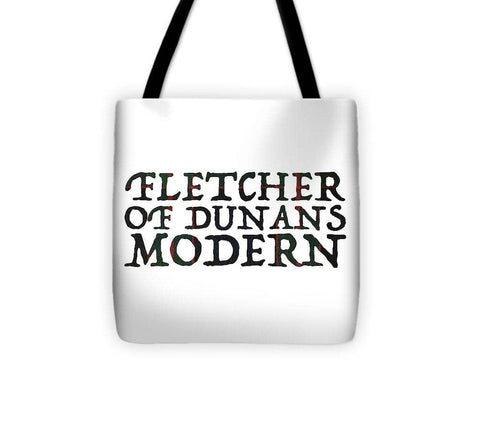Fletcher Of Dunans Modern Tartan Words - Tote Bag