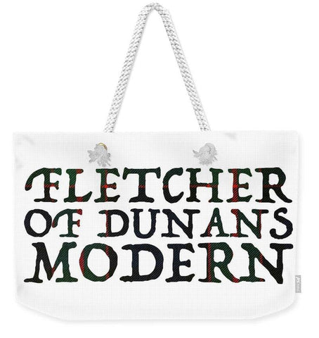 Fletcher Of Dunans Modern Tartan Words - Weekender Tote Bag