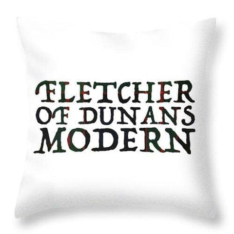 Fletcher Of Dunans Modern Tartan Words - Throw Pillow