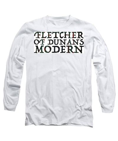 Fletcher Of Dunans Modern Tartan Words - Long Sleeve T-Shirt