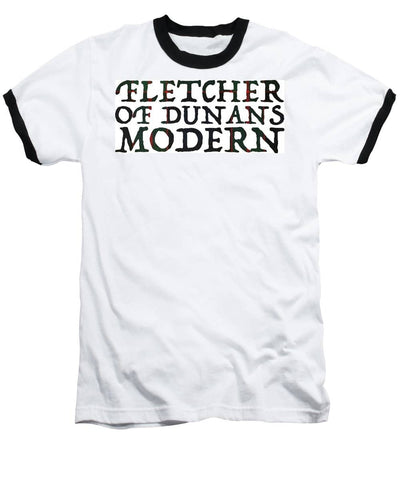 Fletcher Of Dunans Modern Tartan Words - Baseball T-Shirt