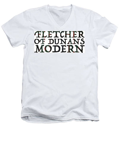 Fletcher Of Dunans Modern Tartan Words - Men's V-Neck T-Shirt