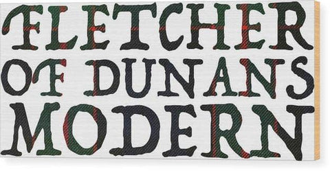 Fletcher Of Dunans Modern Tartan Words - Wood Print