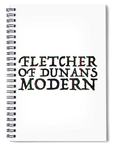 Fletcher Of Dunans Modern Tartan Words - Spiral Notebook
