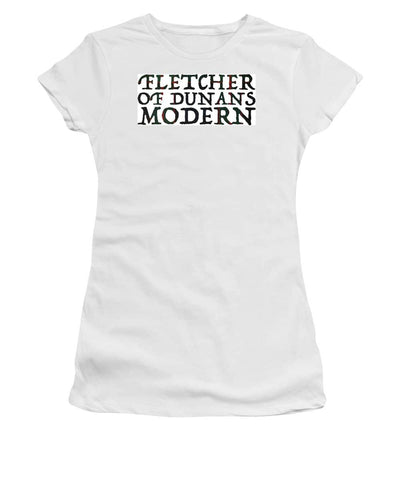 Fletcher Of Dunans Modern Tartan Words - Women's T-Shirt