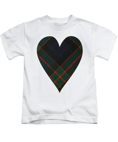 Fletcher Of Dunans Tartan Heart - Kids T-Shirt
