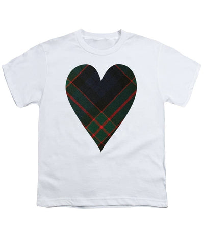 Fletcher Of Dunans Tartan Heart - Youth T-Shirt