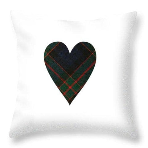Fletcher Of Dunans Tartan Heart - Throw Pillow