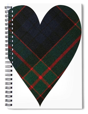Fletcher Of Dunans Tartan Heart - Spiral Notebook