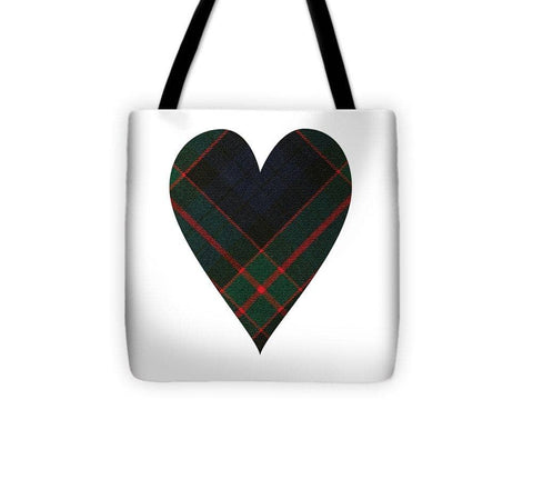 Fletcher Of Dunans Tartan Heart - Tote Bag