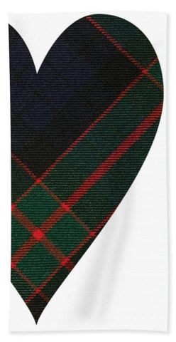 Fletcher Of Dunans Tartan Heart - Beach Towel
