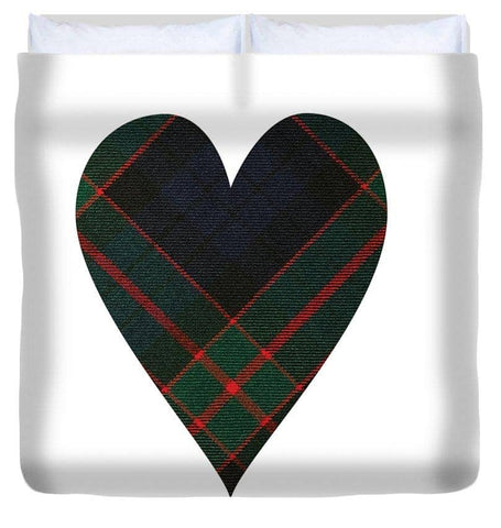Fletcher Of Dunans Tartan Heart - Duvet Cover