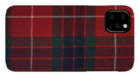 Frazer Red Modern Tartan - Phone Case