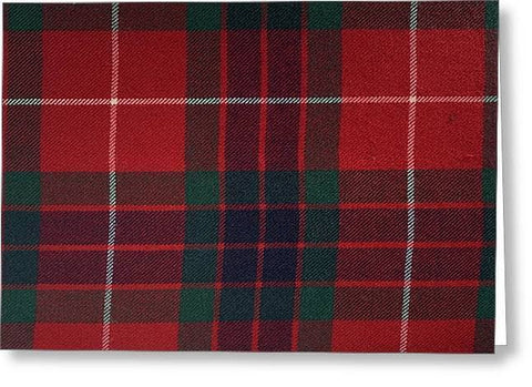 Frazer Red Modern Tartan - Greeting Card