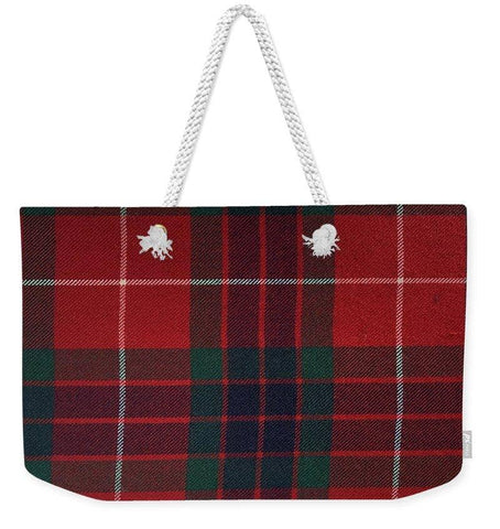 Frazer Red Modern Tartan - Weekender Tote Bag