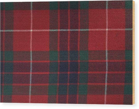 Frazer Red Modern Tartan - Wood Print