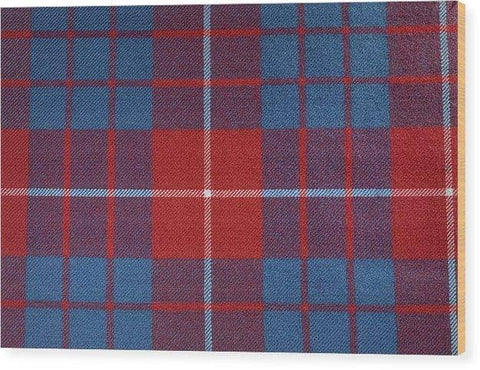 Hamilton Red Tartan - Wood Print