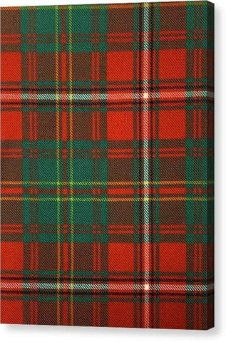 Hay Ancient Tartan Swatch - Canvas Print